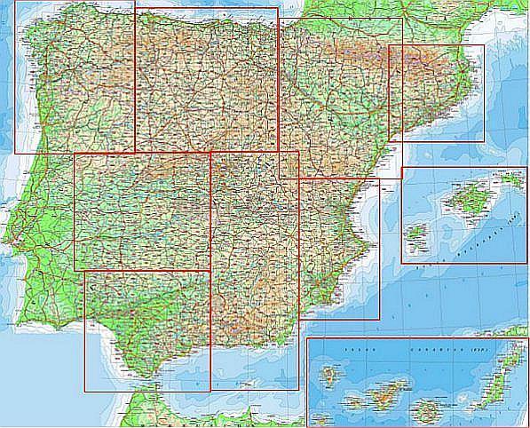 Topographische Karte Ungarn.Amtliche Topographische Karten Cnig Spanien Ubersicht Der