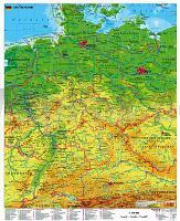 Deutschland Physisch 1 750 000 97 Cm X 119 Cm Poster Wandkarte