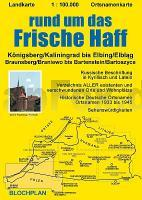 Schlesien Karte Deutsche Ortsnamen.Rund Um Das Frische Haff 1 100 000 Landkarte Vom Bereich